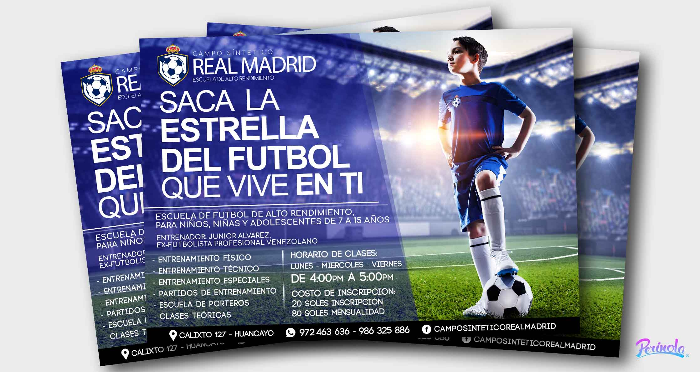 Flyer - Escuela de Futbol - volantes publicitarios