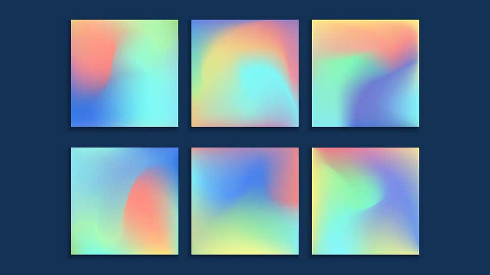 Degradado de color, tendencias en diseño gráfico 2020