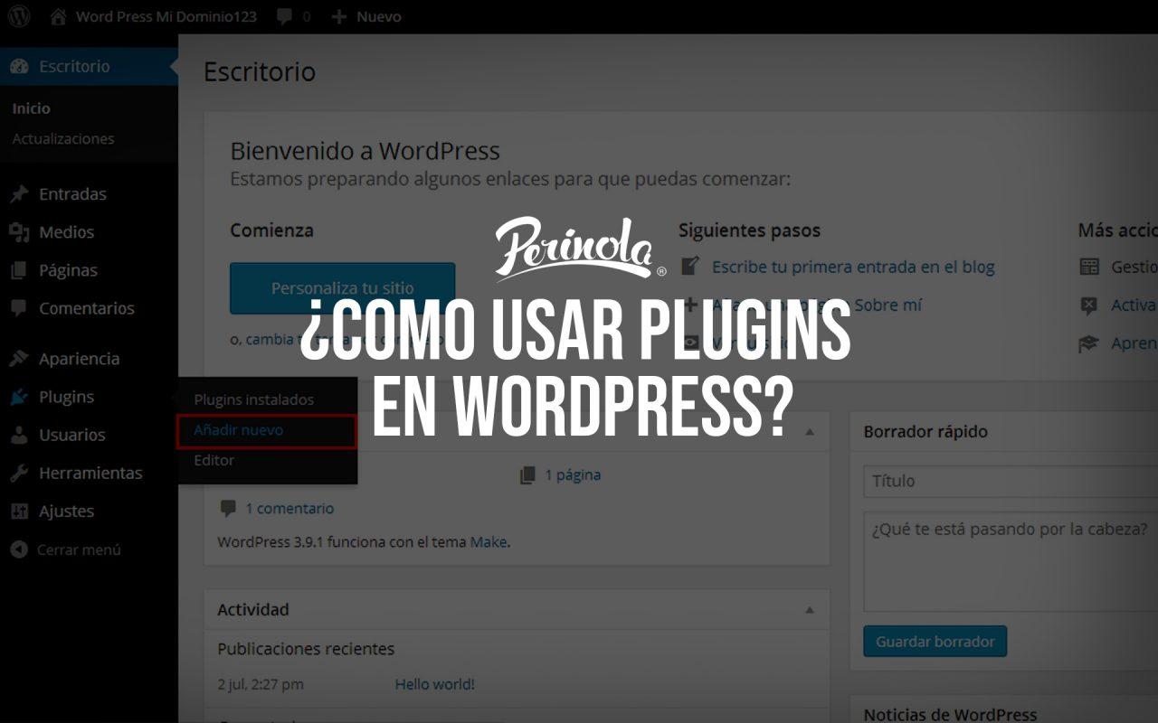Como usar plugins en wordpress