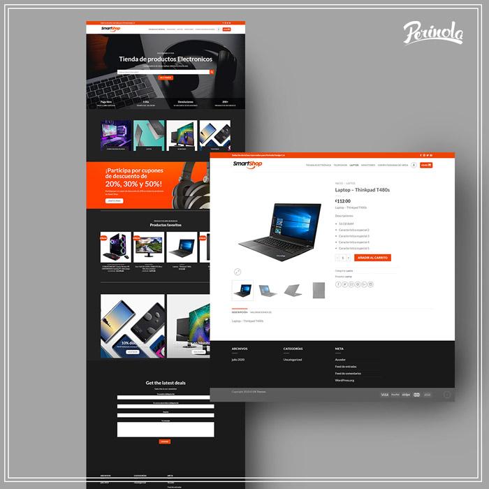 Diseño de sitio web para tienda de productos electrónicos