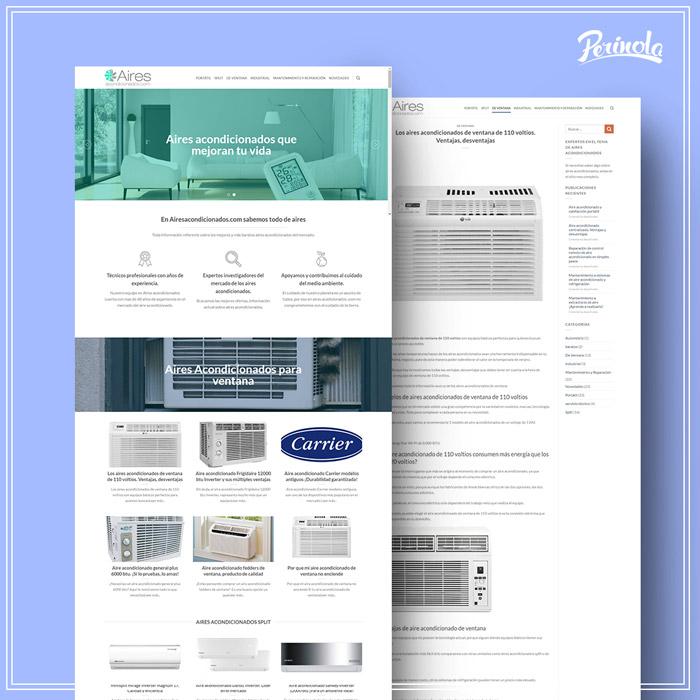 Diseño de sitio web para aires acondidionados