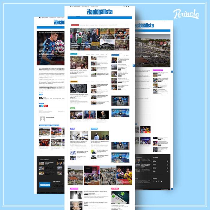 Diseño de pagina web para diario informativo